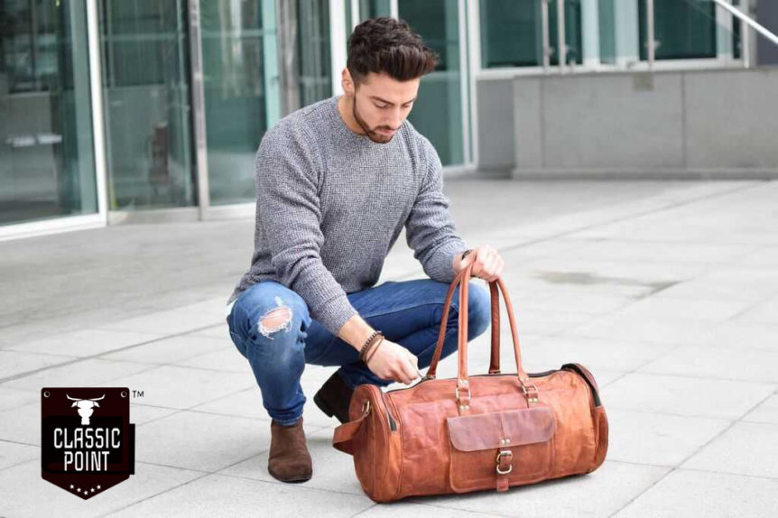 Leather Men Bags Exporter